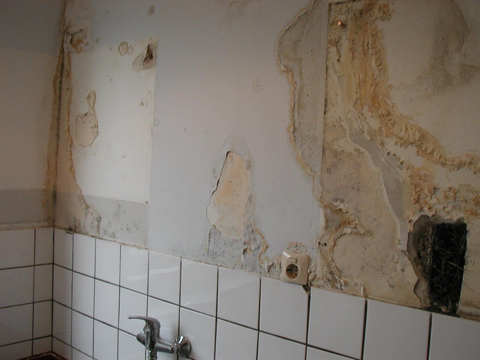 Schimmlige Wand in Kerpen, NRW