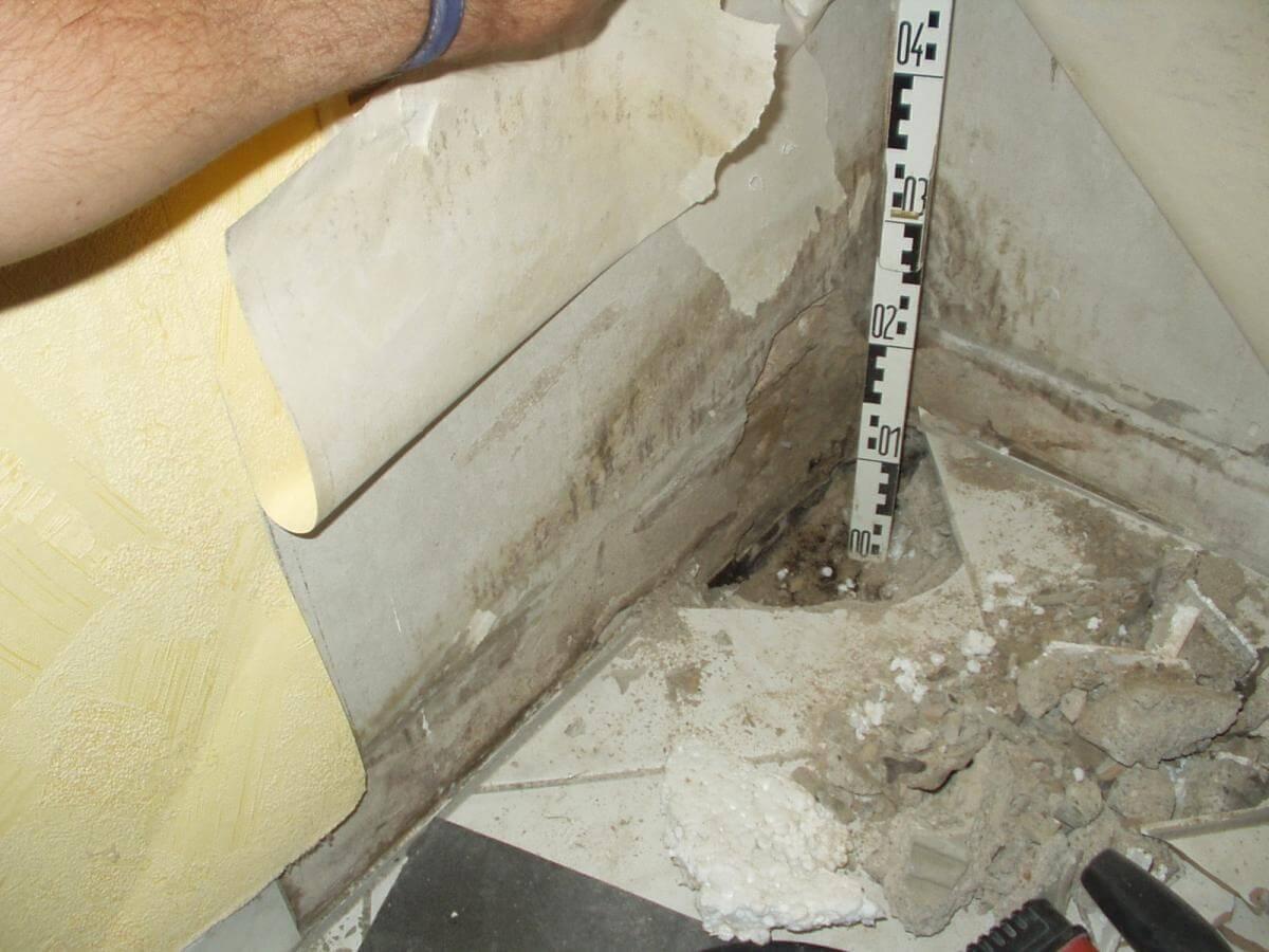 Nasse Wand im Keller - Sachverständiger für Gebäudeschäden in Meckenheim I-O-K