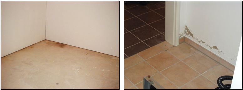 Feuchteflecken Fußboden - I-O-K